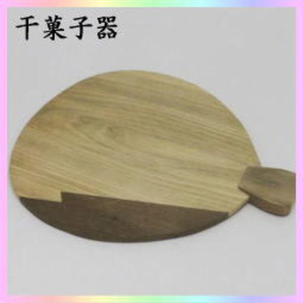 茶器 茶道具 菓子器 干菓子器 干菓子盆 団扇 合せ板 神代杉と桑  送料無料 夏の茶道具