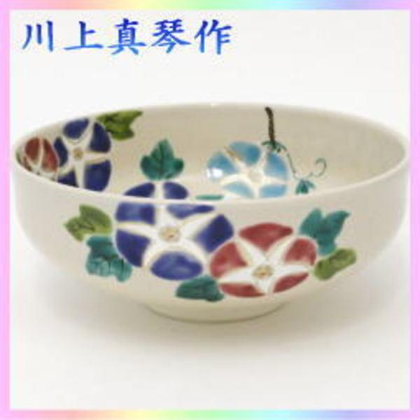 茶器 茶道具 抹茶茶碗 馬盥 朝顔に釣瓶 川上真琴作 色絵茶碗 夏茶碗 ばだらい