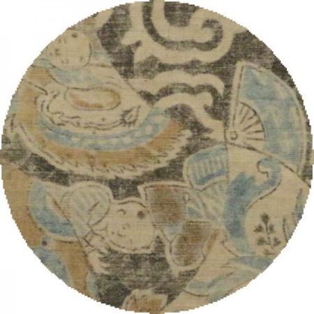 【茶器/茶道具 古帛紗】 古布 和更紗 木綿 寄せ裂文様 (古服紗・古袱紗・古ふくさ)