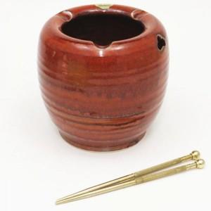 【茶器/茶道具 懐石道具 火鉢】 現品限り 清水焼き ミニ手焙り 火箸付