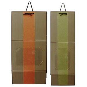 【雑貨 はがき掛け/ポストカード掛け】 はがき掛 三つ折 (立て掛け兼用) はがき横タイプオレンジ又ははがき縦タイプグリーン