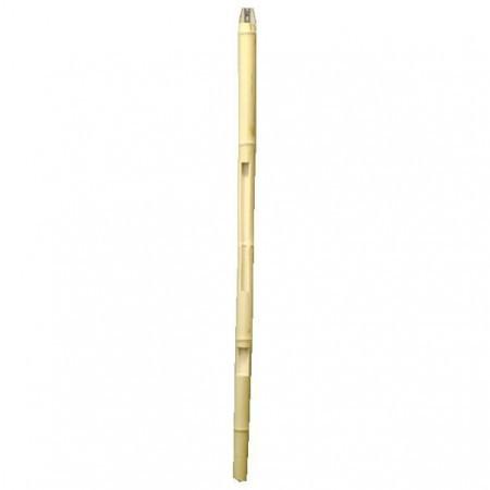 【茶道具 短冊掛け 花入れ掛け】 野立傘用 歌花筒 白竹