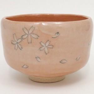 【茶器/茶道具 抹茶茶碗】 淡赤楽茶碗 桜 佐々木松楽作
