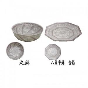 【茶器/茶道具 菓子器】 菓子鉢 紫三島 丸鉢又は八角平鉢 金筋 森里陶楽作