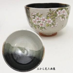 【茶器/茶道具 抹茶茶碗】 灰釉 桜橘 中村良二作