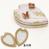 【茶器/茶道具 香合】 桜に蝶 中村良二作