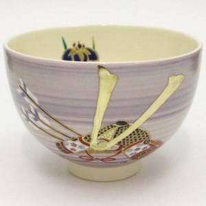 【茶器/茶道具 抹茶茶碗 端午の節句】 紫釉 兜 見谷福峰作