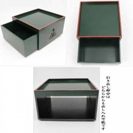 【茶器/茶道具 菓子器/菓子箱】 柏台 淡々斎好写し