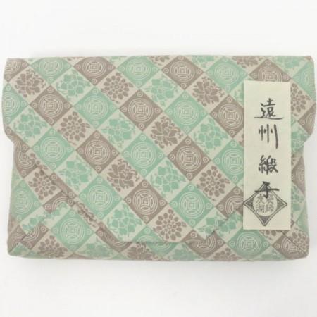 【茶道具 数奇屋袋(数寄屋袋)】 遠州緞子 土田友湖作(千家十職 袋師)