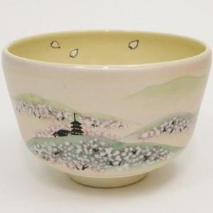 【茶器/茶道具 抹茶茶碗】 桜の吉野山 八木海峰作