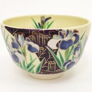 【茶器/茶道具 抹茶茶碗】 仁清写し 燕子花(かきつばた) 小手鞠窯