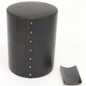 【茶筒】 綴目(とじ目) 銅製 茶合付 200g用