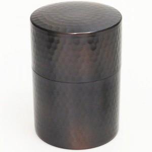 【茶筒】つち目(槌目) 銅製 100g用