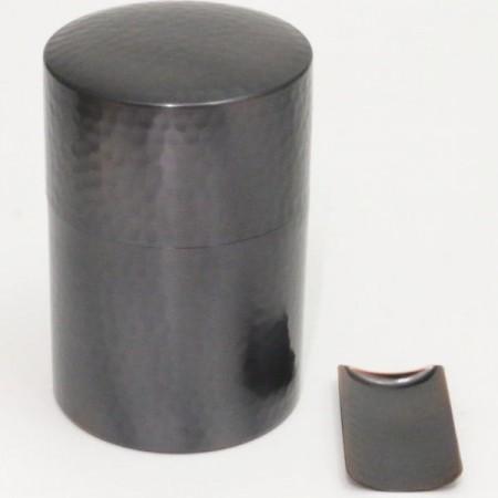 【茶筒】 槌目(つち目) 銅製 200g用 茶合付