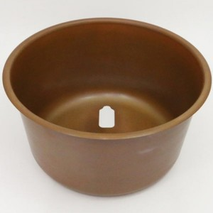 【茶器/茶道具】 銅丸炉 丸型奉書紙3枚付 炭&電熱器使用可 電熱器のコードを通す穴あり