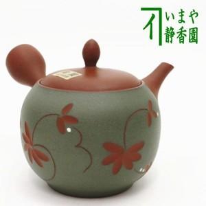 【急須】 常滑焼き(とこなめ焼き) 彫小花 帯網(帯アミ) 約200ml
