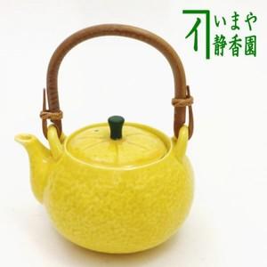 【急須/ポット】 有田焼き 柚子急須 カップ網(U網) 実山作 240ml