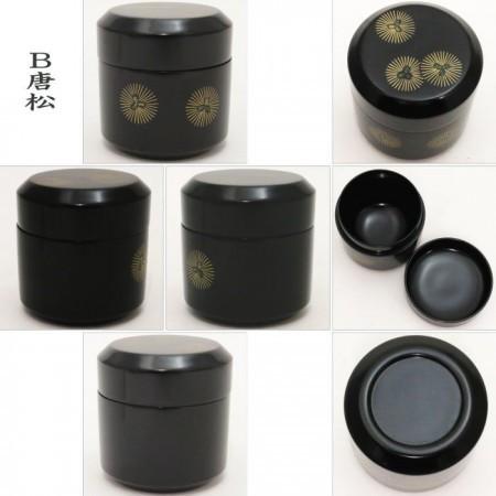 【茶器/茶道具 なつめ(お薄器)】 雪吹茶器 老松又は唐松 木製