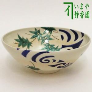 【茶器/茶道具 抹茶茶碗】 平茶碗 楓に流水 山岡善昇作