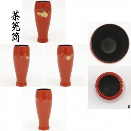 【茶器/茶道具 茶箱用三点セット 塗物(塗り物)】 棗 香合 茶筅筒三点セット 朱塗 瓢 プラスチック製