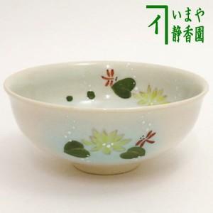【茶器/茶道具 抹茶茶碗】 平茶碗 蓮に蜻蛉 清和窯