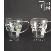 【マグカップ/コップ】 ムーミン又はリトルミィ 耐熱硝子
