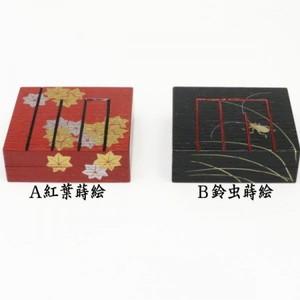 【茶器/茶道具 香合】 色紙 源氏香図 紅葉蒔絵