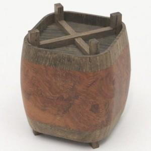【茶器/茶道具 香合】 糸巻 木地寄せ 小松一徳作