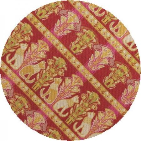 【茶道具 数奇屋袋(数寄屋袋)】 正絹 チョーカーの猫又は埃及の猫(エジプトの猫) 龍村美術織物裂