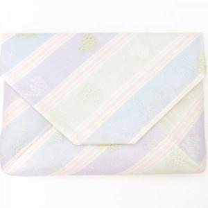 【茶器/茶道具 数寄屋袋(数奇屋袋)】 夏用 紗織り 正絹 葡萄唐草
