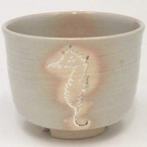 【茶器/茶道具 抹茶茶碗】 御本手 竜の落し子 割高台 中村秋峰作 半筒型