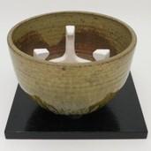 【茶道具 紅鉢(瓶掛)】 紅鉢3点セット 信楽焼き 紅鉢 7寸&五徳&8寸 小板 掻合