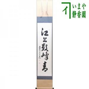 【茶器/茶道具 掛軸(掛け軸)】 一行 江上数峰青 足立泰道筆