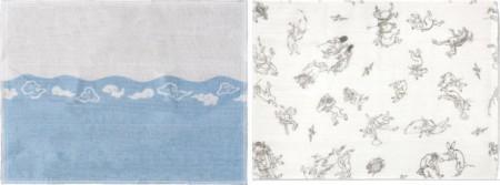 【日用品/雑貨 布巾】 在庫限り 富士山ふきん又は鳥獣戯画ふきん (台ふきんやおてふきにもおすすめ)