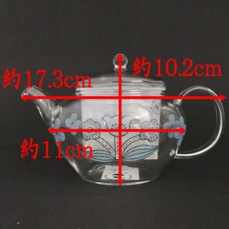 【急須/ティーポット GP-27】 CELEC(セレック) ガラス(硝子) コク旨Vポット mug for all森尾ミユキ 花柄 耐熱硝子 約500ml