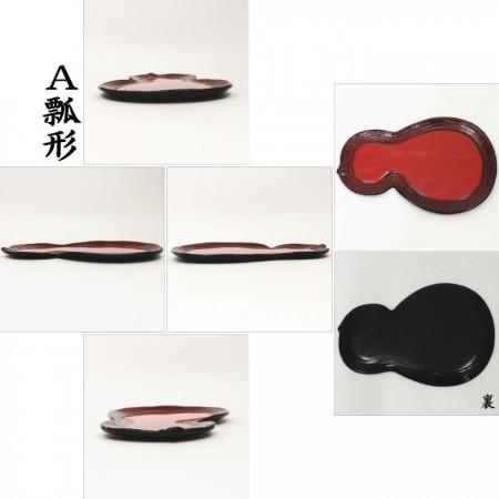 【茶器/茶道具 菓子器】 干菓子器 麻縄 瓢形又は半月形 飛騨漆器製