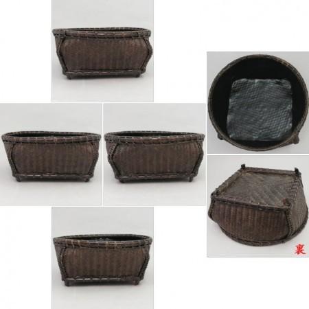 【茶道具 炭道具】 炭斗(炭取) 唐物 四角 炉用・風炉用兼用