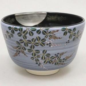 【茶器/茶道具 抹茶茶碗】 平茶碗 緑銀釉 流水青楓 八木海峰作