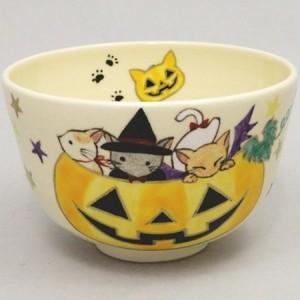 【茶器/茶道具 抹茶茶碗】 猫のハロウィン 水出宋絢作