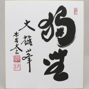 【茶器/茶道具 色紙】 直筆 無心歸大道 小林太玄筆