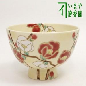 【茶器/茶道具 抹茶茶碗】 色絵茶碗 寒木瓜(かんぼけ) 加藤永山作