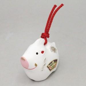【雑貨/置物 お正月飾り 陶器飾り 干支「亥」】 干支置物 亥 土鈴 玉善作