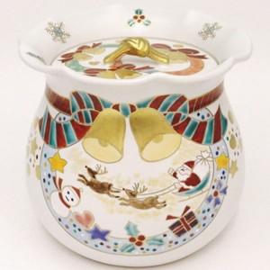 【茶器/茶道具 水指 クリスマス】 白釉 クリスマス 西尾瑞豊作 木箱