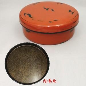 【煎茶道具 茶器入れ】 茶びつ 根来塗り