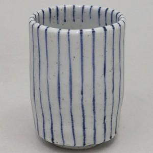 【湯のみ(湯呑み・湯飲み・コップ)】 筒 むぎわら手 1個 水月窯