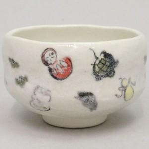 【茶器/茶道具 抹茶茶碗 干支「亥」】 干支茶碗 小茶碗(一服碗) 亥 (玩具) 豊窯