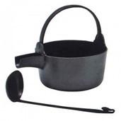 【懐石道具(会席道具) 茶飯茶事用品】 汁器(汁鍋) 杓子付 哲匠作