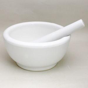 【茶器/茶道具 水屋道具 乳鉢/すり鉢】 乳鉢 7寸・セラミック製 本体重さ2.8kg(摺り棒除く)