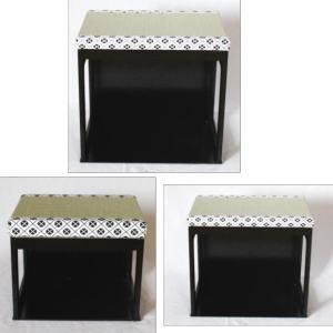 【茶器/茶道具 椅子/座椅子】 茶事座椅子 黒掻合塗 大・中・小3個セット