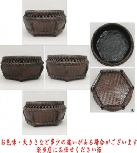 【茶器/茶道具 炭道具】 炭斗(炭取り) 唐物六角 輪透かし 炉・風炉兼用